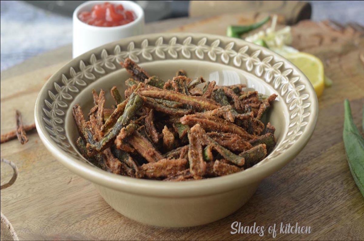 Kurkuri Bhindi | Crispy Bhindi | Easy Kids Snack