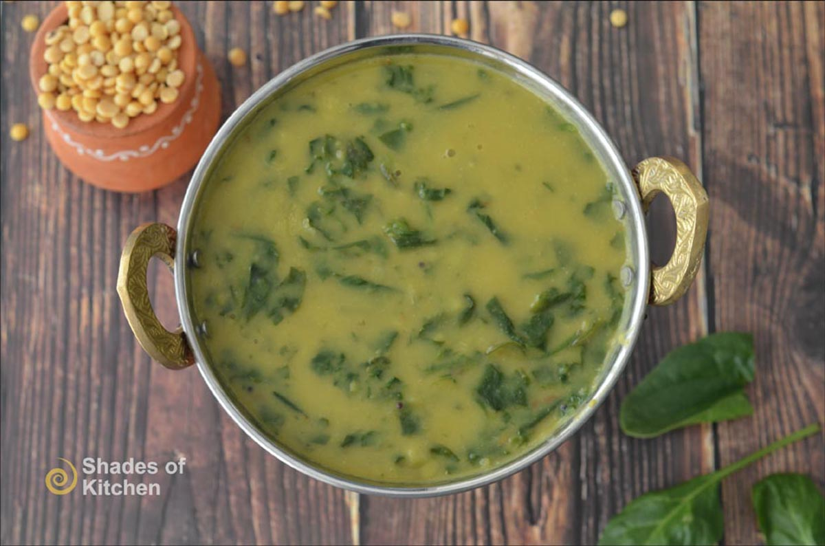 Dal with Spinach | Dal Palak Recipe