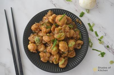 Mushroom Manchurian | Restaurant Style Mushroom Manchurian (VIDEO)